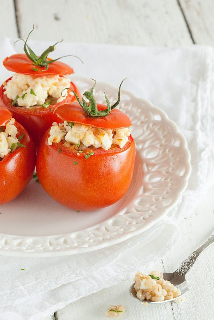 Stuffed beefsteak tomato with feta cheese 2 683x1024 - Stuffed beefsteak tomato with feta cheese
