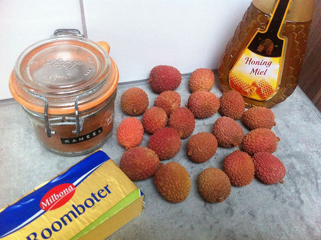 Caramelized lychee ingredients