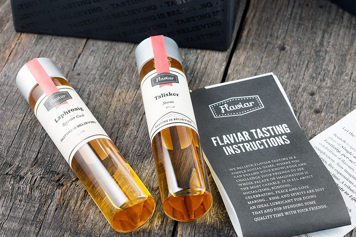 Flaviar sampling bottles