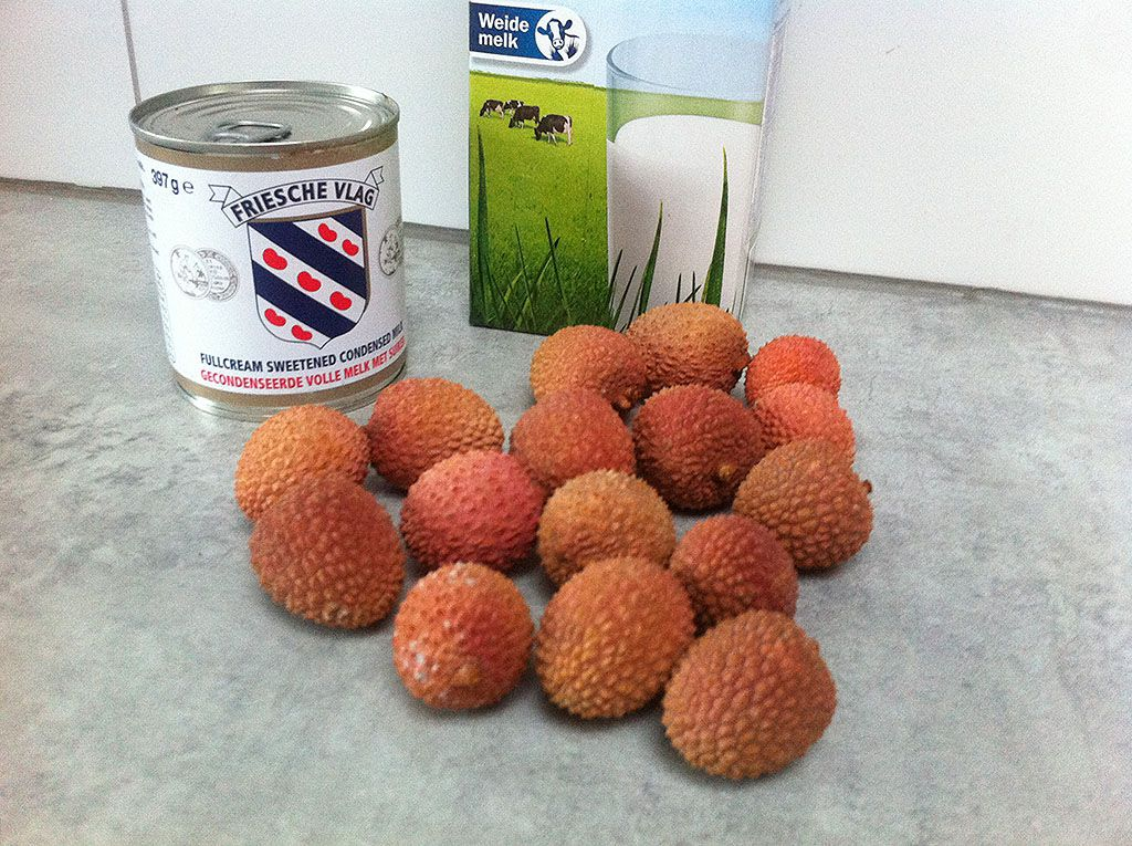 Lychee ice cream ingredients
