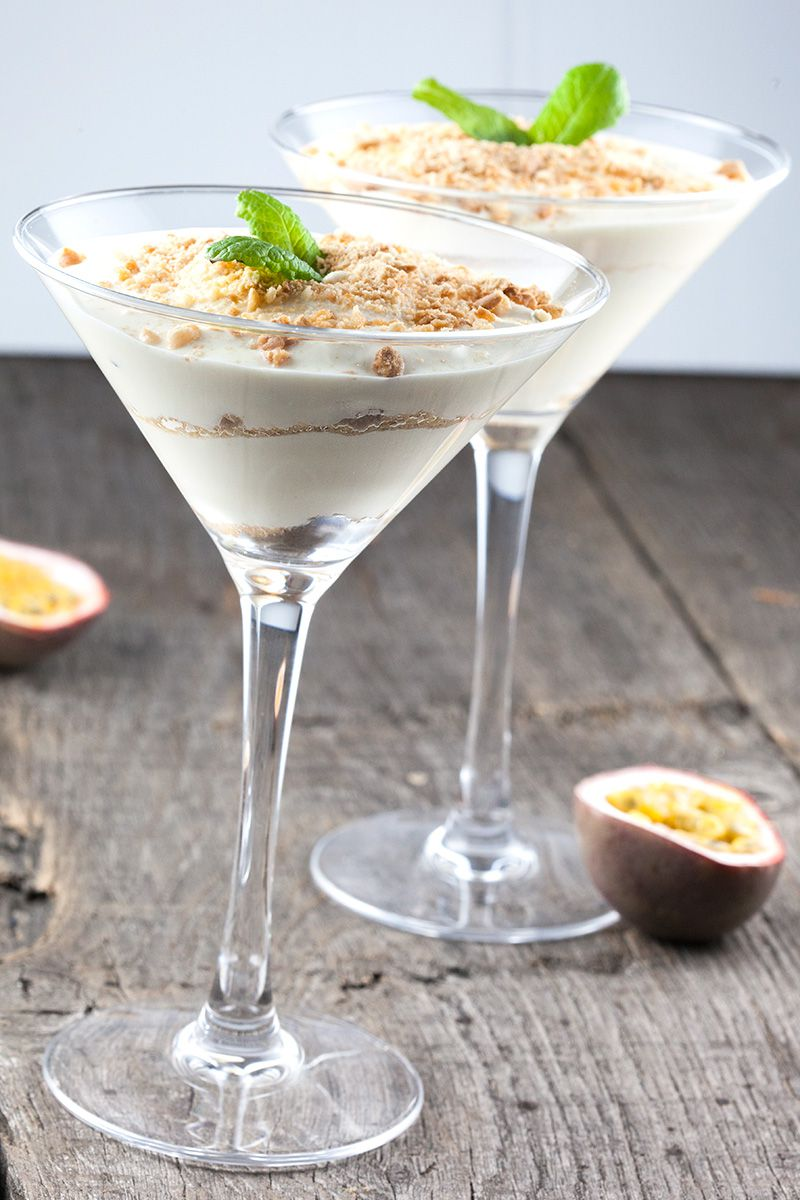 Passionfruit and greek yoghurt mousse