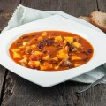 Vegetable bean and sausage soup