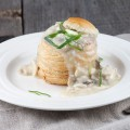 Chicken and mushroom vol au vents