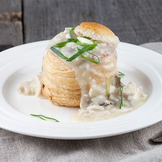 Chicken and mushroom vol au vents square - Chicken and mushroom vol au vents