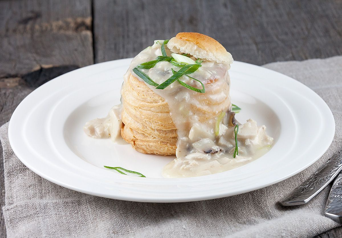 Chicken And Mushroom Vol Au Vents Ohmydishcom