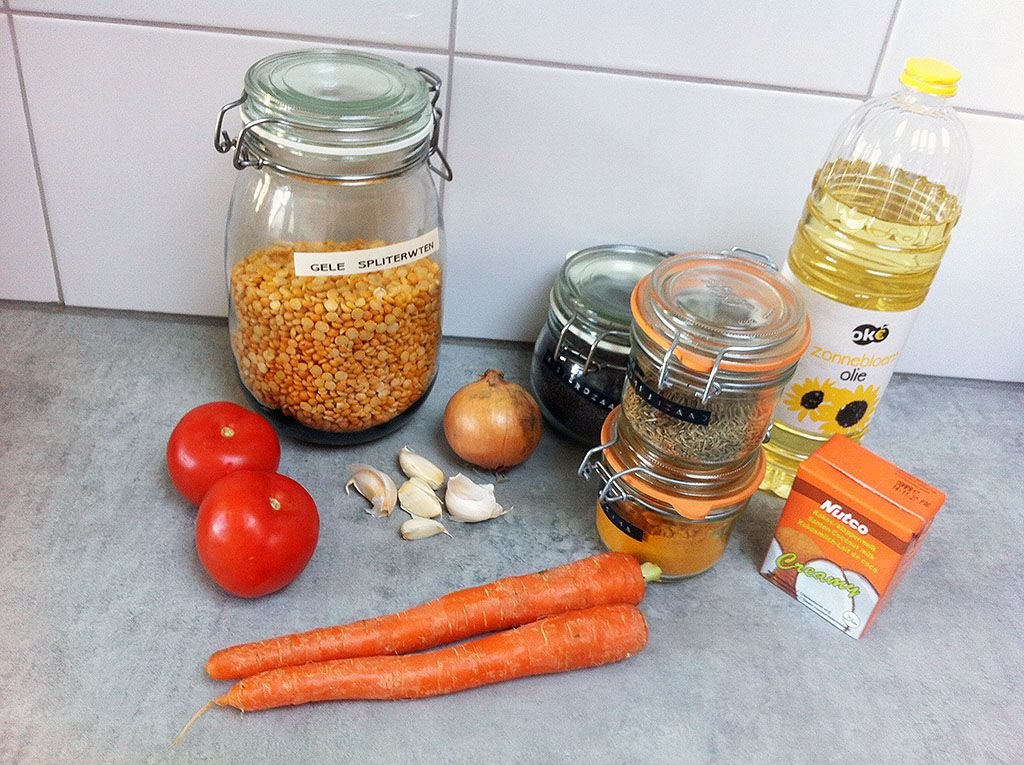 Indian dhal ingredients