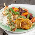 Lemon chicken with rice and pesto 120x120 - Surf and turf with herb butter