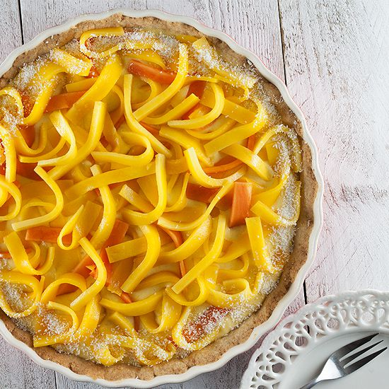 Mango papaya and coconut pie