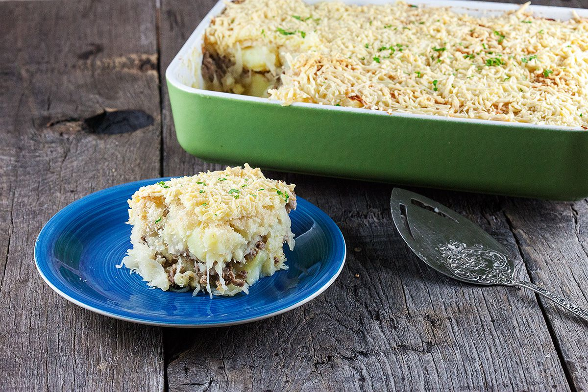 Sauerkraut mashed potatoes casserole