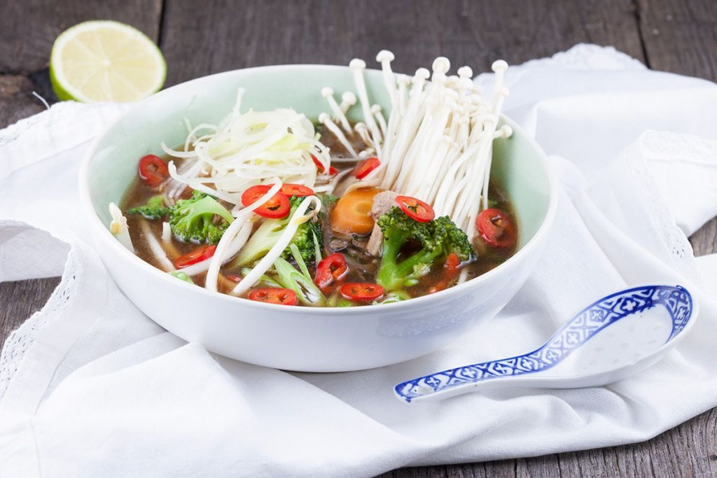 Asian pork and vegetable soup