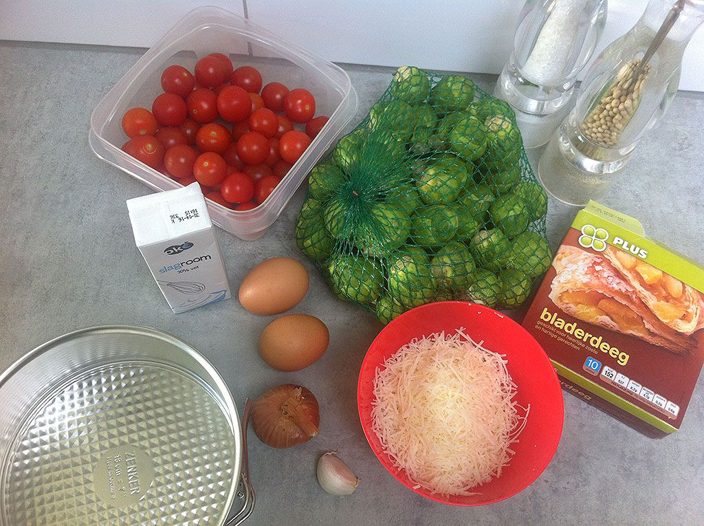 Brussels sprouts quiche ingredients