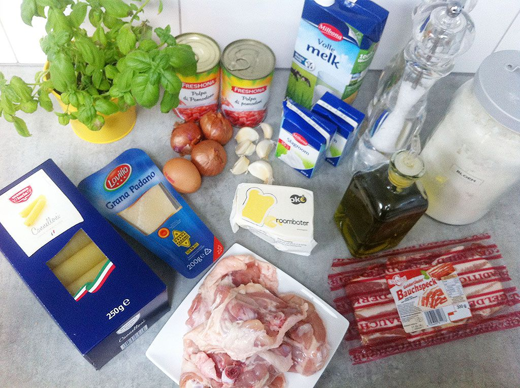 Cannelloni ingredients