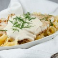 Creamy white wine and dill sauce 120x120 - Kohlrabi in creamy sauce