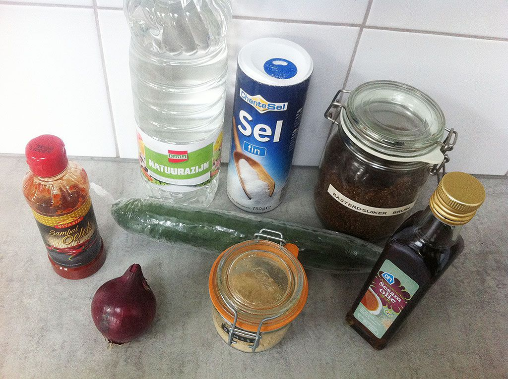 Spicy cucumber salad ingredients