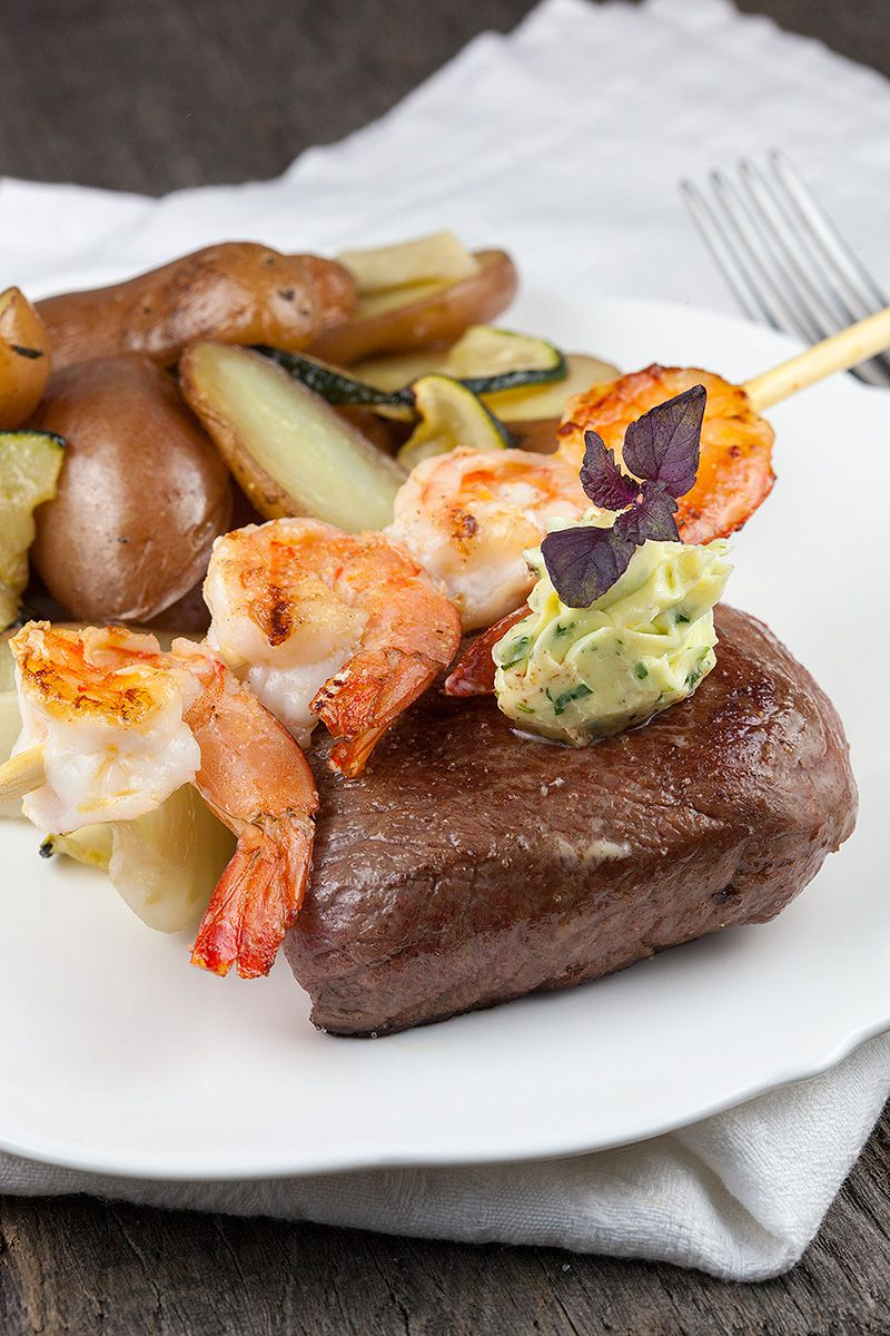 Surf and turf with herb butter 2 - Surf and turf with herb butter