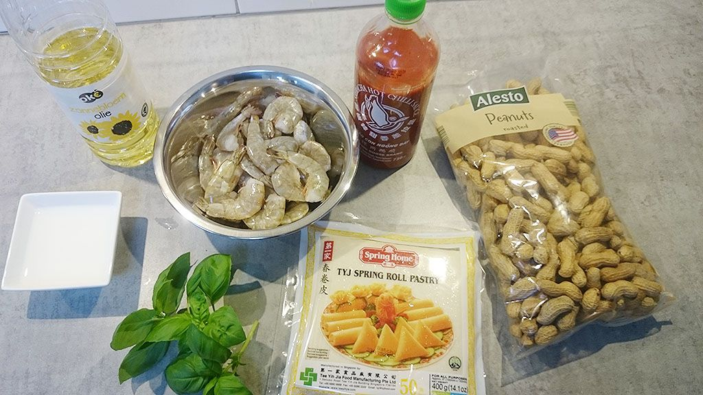 Thai firecracker shrimp ingredients