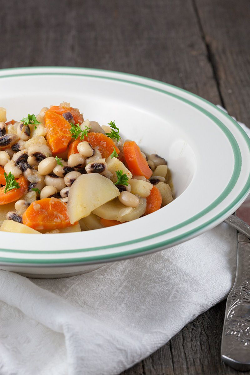 Vegetarian black eyed pea stew 2 - Vegetarian black-eyed pea stew