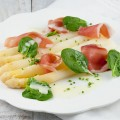 White asparagus and serrano ham
