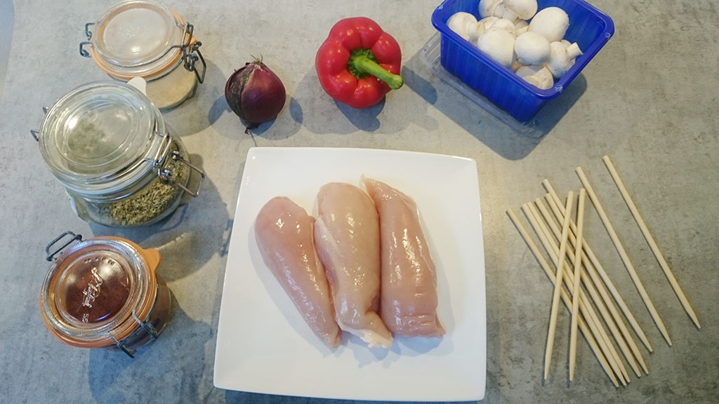 BBQ chicken shashlik ingredients