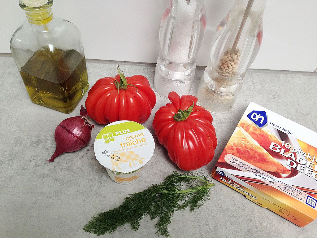 Coeur de boeuf tomato tartlets ingredients