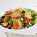 Fried goat cheese salad 120x120 - Strawberry goat cheese salad