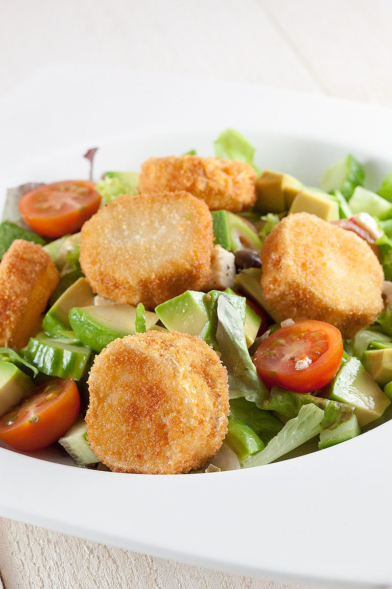 Fried goat cheese salad 2 - Fried goat cheese salad
