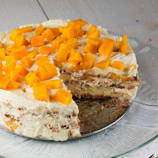Mango royale icebox cake square - Mango royale icebox cake