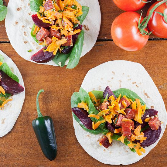 Pickled red beets and chorizo tacos square - Pickled red beets and chorizo tacos