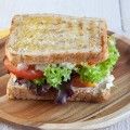 Tuna melt sandwich 120x120 - Red onion compote and brie sandwich