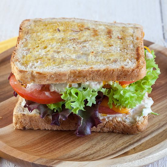 Tuna melt sandwich square - Tuna melt sandwich