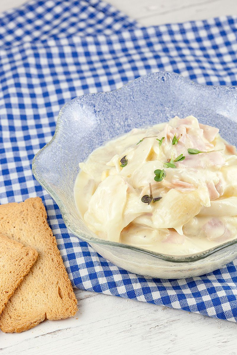 White asparagus and ham spread