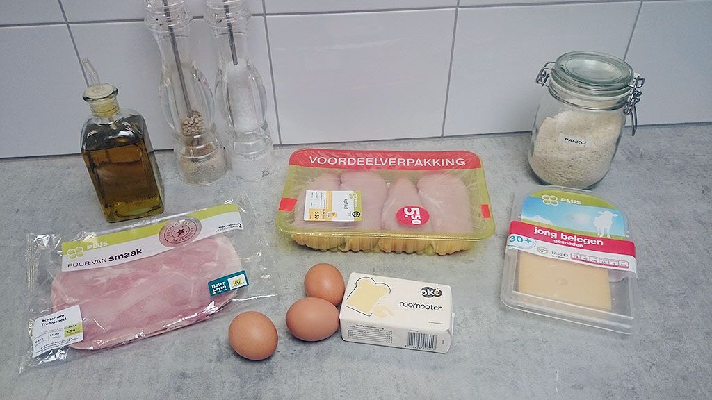 Cordon bleu ingredients - Cordon bleu with pearl couscous