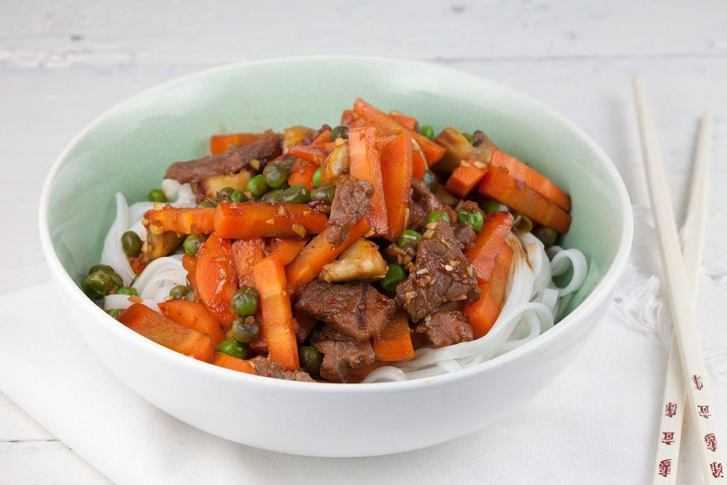 Easy beef and vegetable stir fry