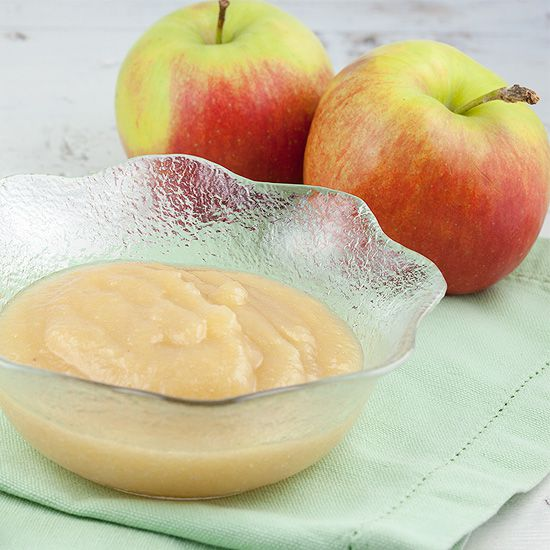 Home-made apple sauce
