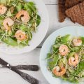 Red lentil shrimp salad 120x120 - Shrimp salad with mango and mozzarella