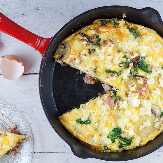 Spinach and ham frittata