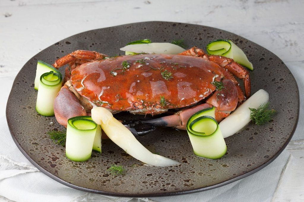 Steamed north sea crab
