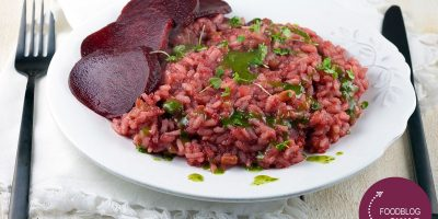 Beetroot risotto with streaky bacon 400x200 - Homepage