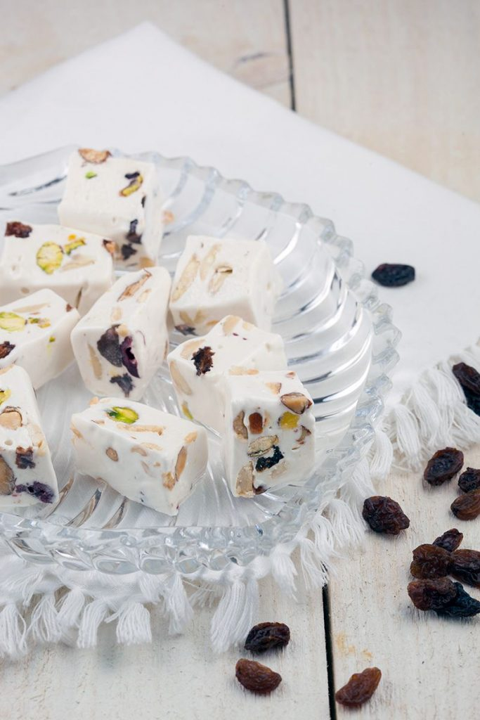 Soft homemade nougat 2 683x1024 - Soft homemade nougat