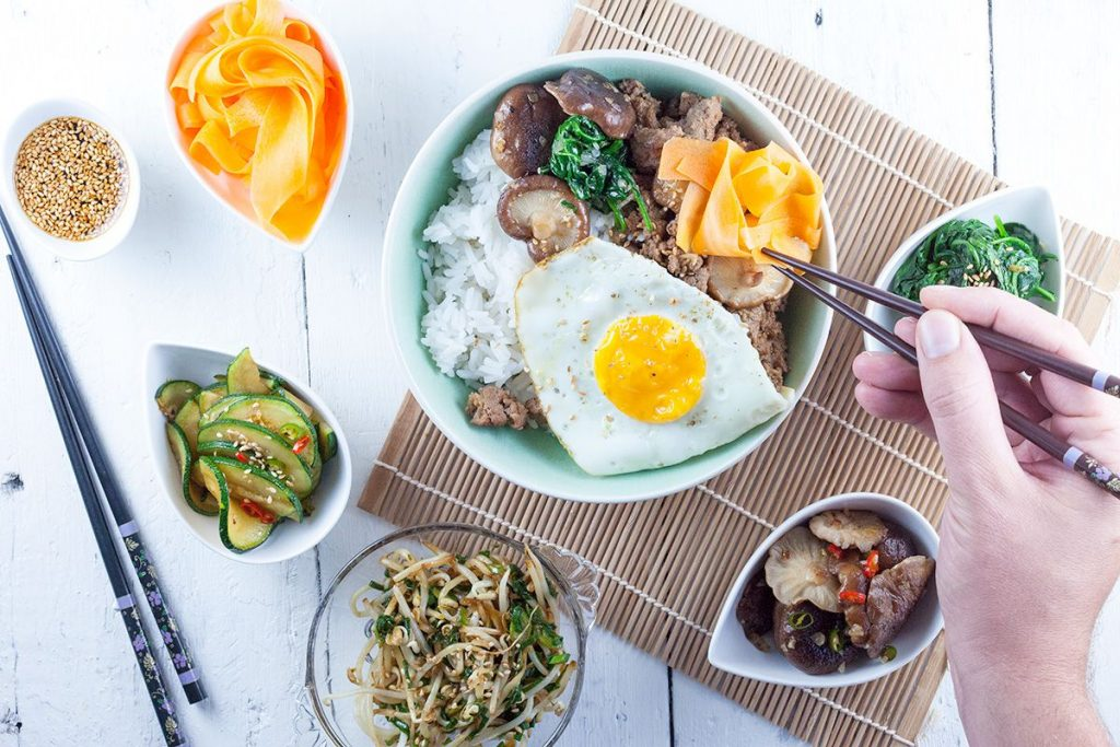 Bibimbap – Korean rice and vegetables