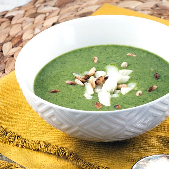 Creamy spinach soup square - Creamy spinach soup