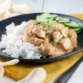 Easy spicy chicken 120x120 - Shimeji, enoki and chicken stir fry with pandan rice