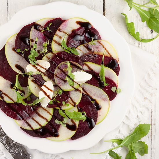 Green apple and beetroot carpaccio