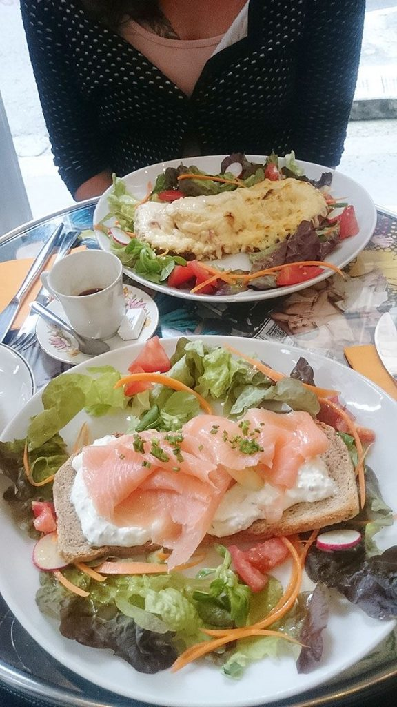 Lunch at arty cafe Bordeaux