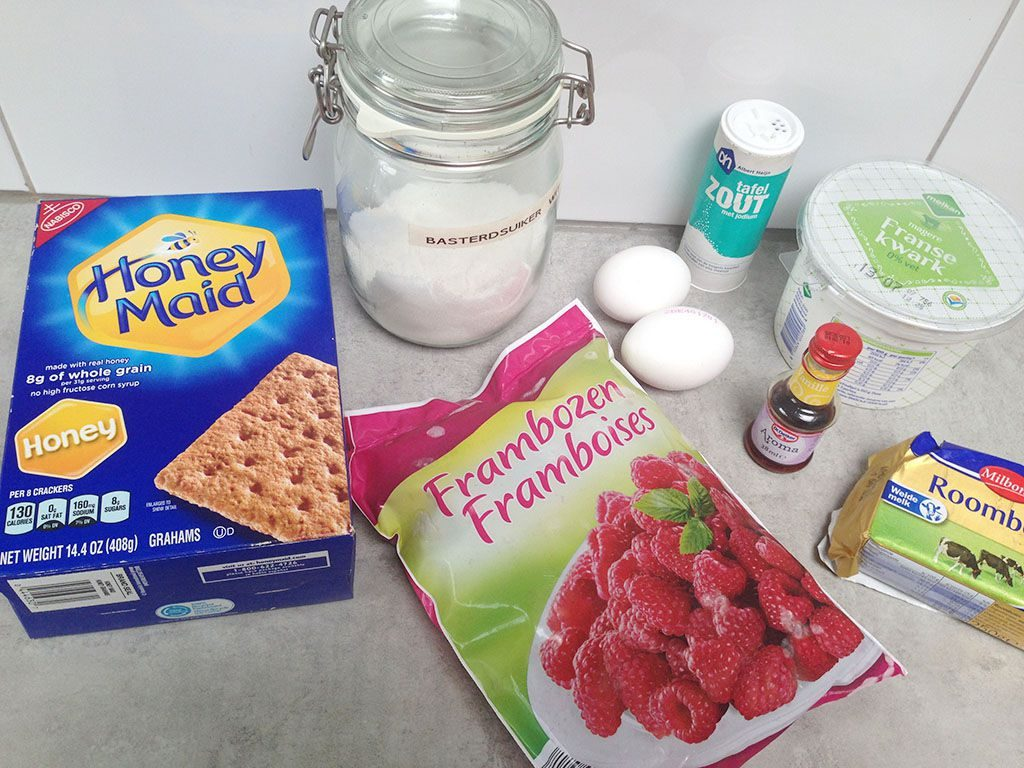 Raspberry quark pie ingredients 1024x768 - Raspberry quark pie