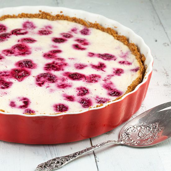 Raspberry quark pie square - Raspberry quark pie
