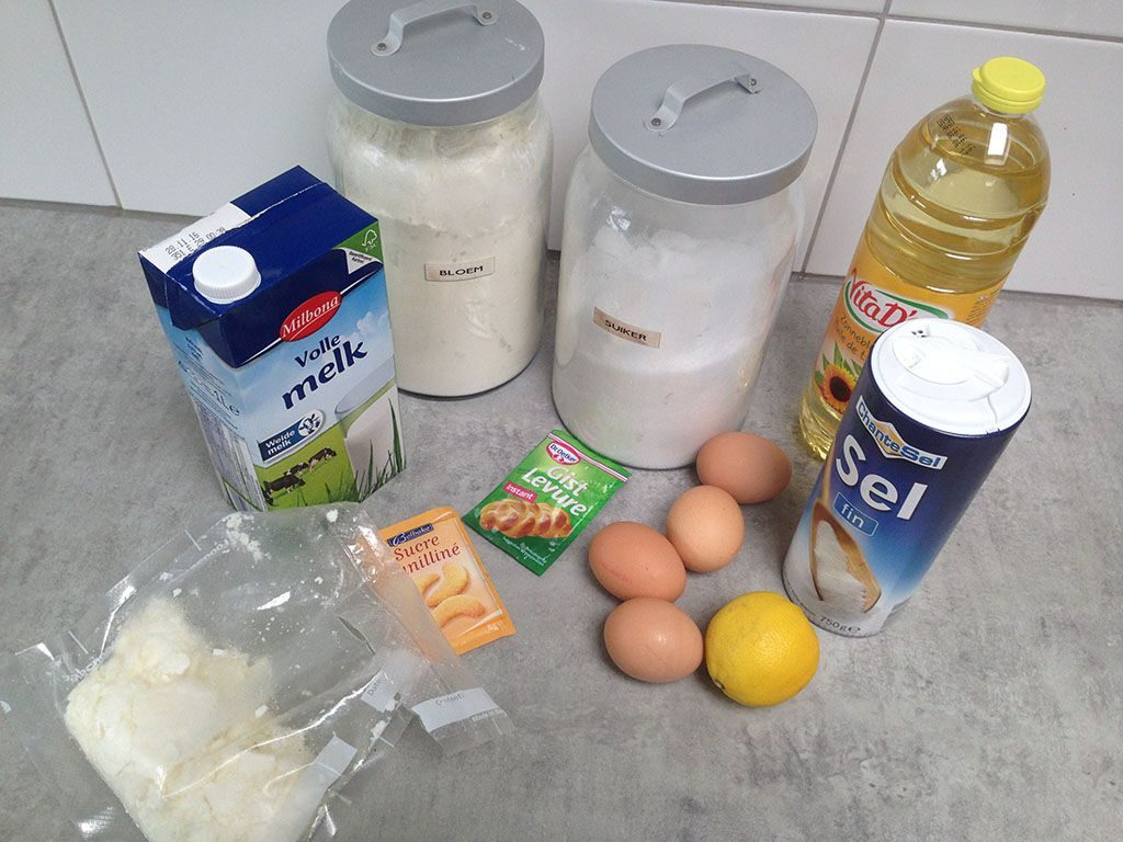 Branzoaice (Romanian lemon pastries) ingredients