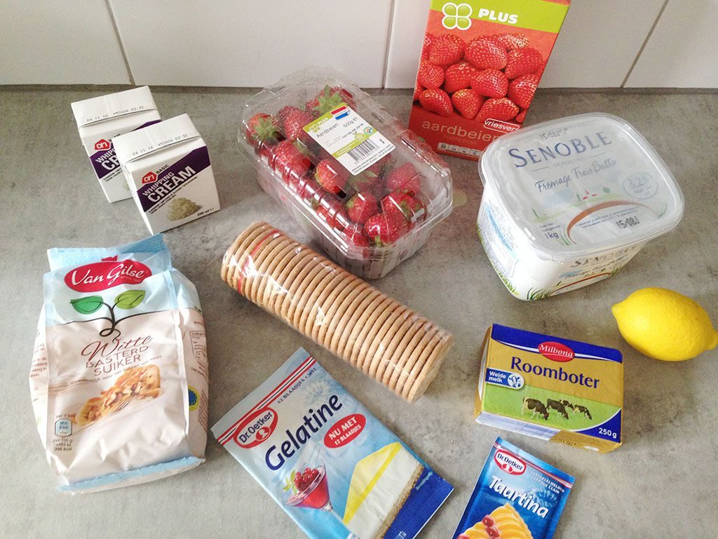 Dutch strawberry quark tart ingredients 1024x768 - Dutch strawberry quark tart