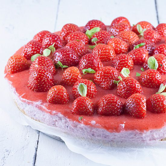 Dutch strawberry quark tart