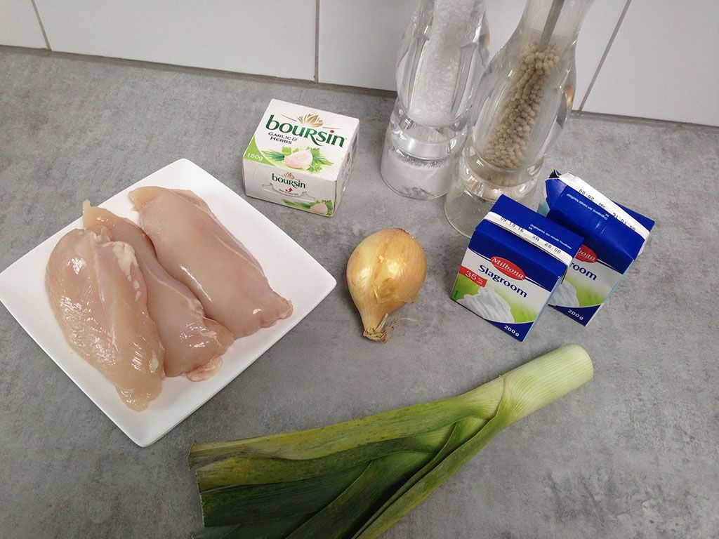 Chicken with Boursin sauce ingredients 1024x768 - Chicken with Boursin sauce